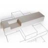 Shelf Minottiitalia Concrete