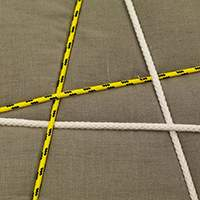 Fabric ecru | Yellow and white ropes