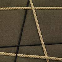 Taupe fabric | Black and natural ropes