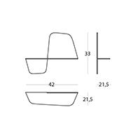 Flap 420 - 42 x 21,5 x 33h cm