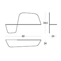 Flap 600 - 60 x 24 x 34,5h cm