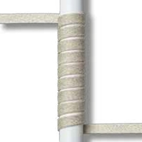 Aluminum White and flat rope Beige - 44.R16