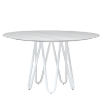 Meduse - White Ash and White Painted Metal