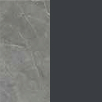Slate Gray Ceramic / Anthracite gray lacquered wood