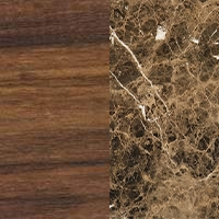 Walnut wood - Emperador marble