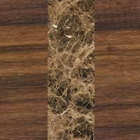 Walnut Wood - Emperador Marble - Walnut Wood