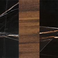 Sahara Noir Marble - Walnut Wood - Sahara Noir Marble