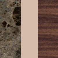 LOG - M183 Emperador - 68 Agate rose - 14 Canaletto walnut