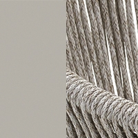 Silk Gray and Pearl Cord